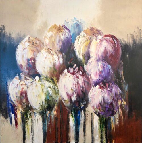Jochem de Graaf schilderij 'Tulpen VI'