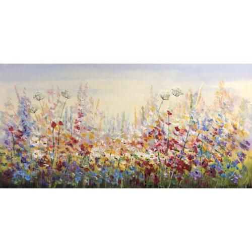 Jochem de Graaf schilderij 'Veldbloemen III'