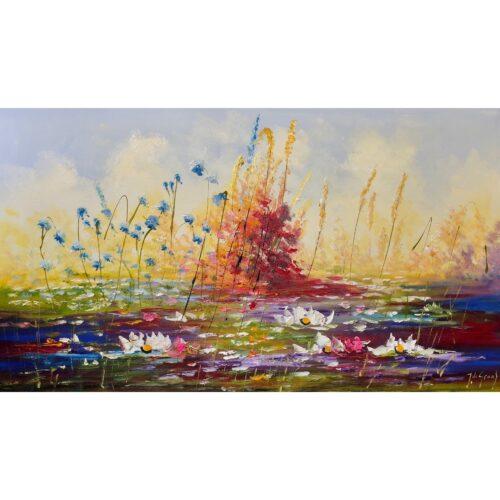 Jochem de Graaf schilderij 'Waterlelies'