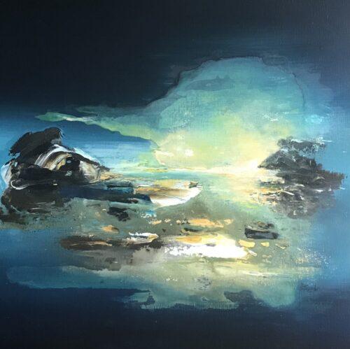 Margret Mijsbergh schilderij 'Northern Lights'