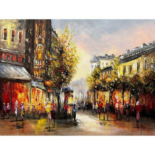 Henry Brand schilderij 'Stadscentrum'