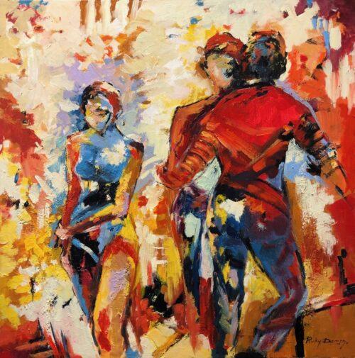 Ricky Damen schilderij 'Wallflower'
