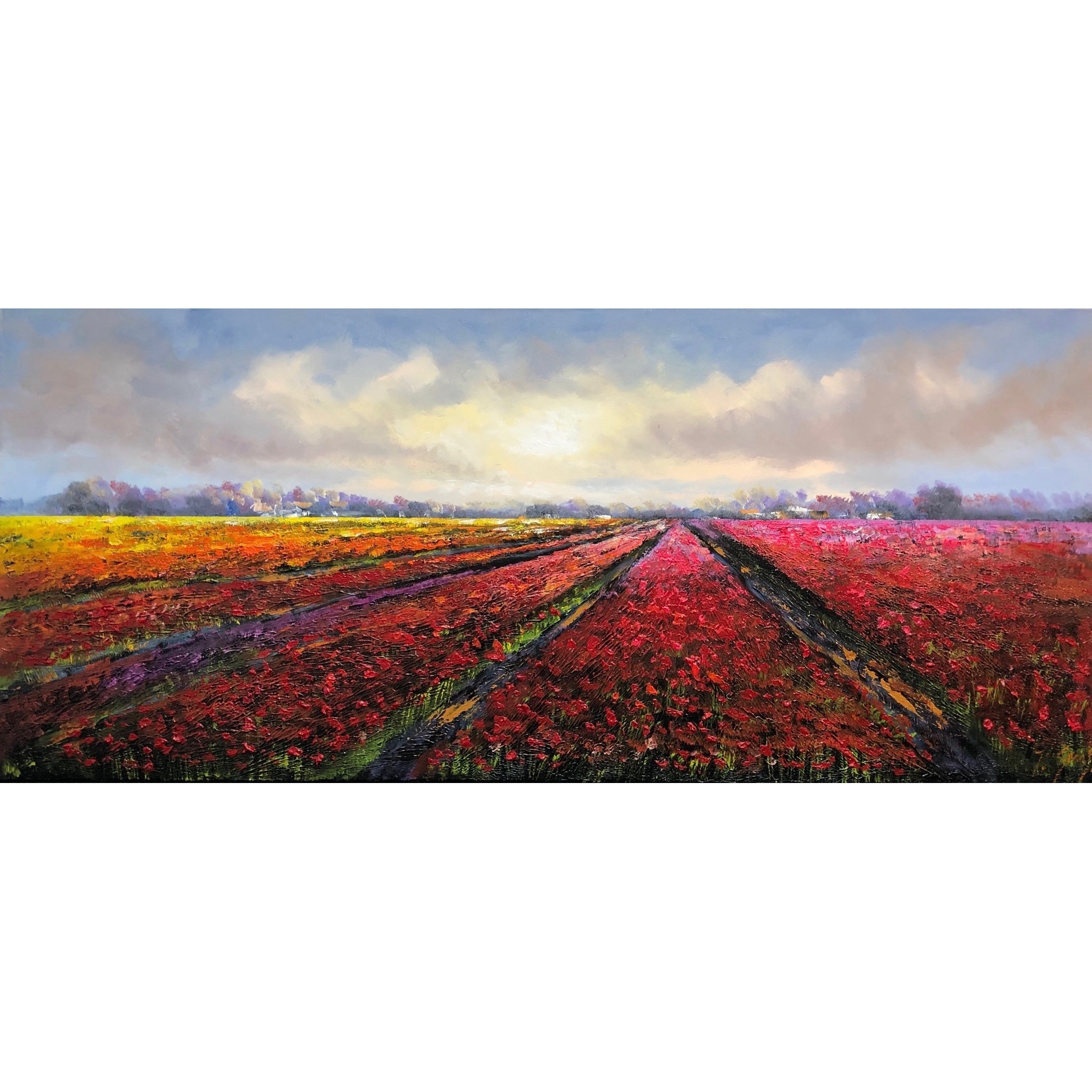 Jochem de Graaf schilderij 'Bollenvelden II'
