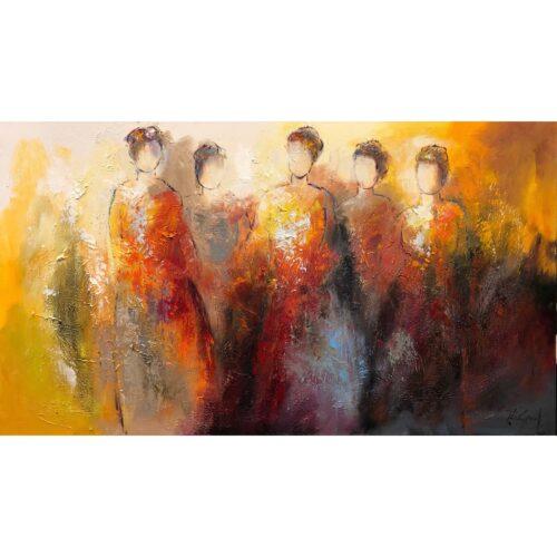 Jochem de Graaf schilderij 'Girlfriends'