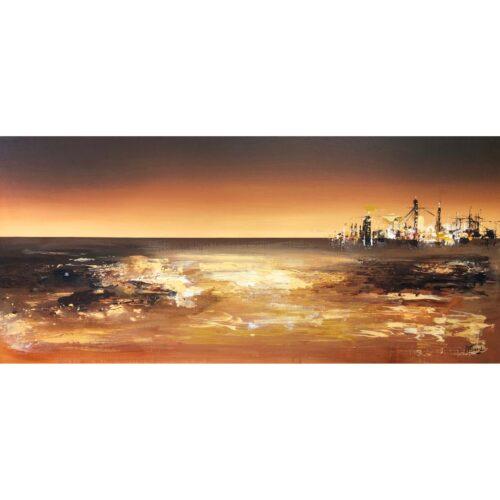 Margret Mijsbergh schilderij 'Future Land, Maasvlakte II'